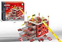 """Парковка игрушечная """"six-six-Zero: Пожарные"""", 4 уровня (6 машинок)"""