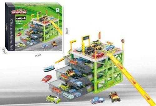 """Парковка игрушечная """"six-six-Zero"""", 4 уровня (зеленая)"""