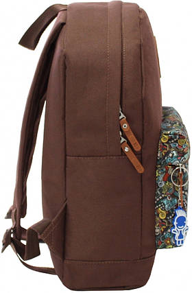 Рюкзак Bagland Молодежный W/R 17 л. 299 коричневий 74 (00533662), фото 2