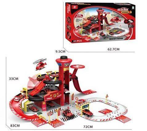 """Паркинг игрушечный """"six-six-Zero: Пожарная станция"""" (в подарочной упаковке)"""