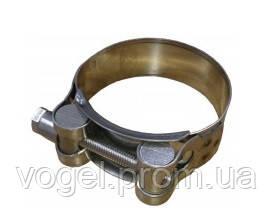 Зажим для труби з гвинтом н/ж сталь INOX d=55mm