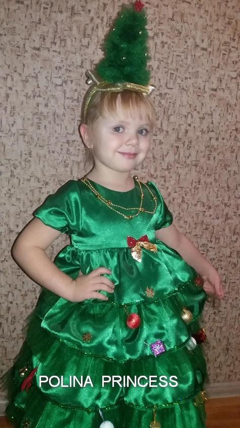 7292b468fad Новогоднее детское платье Елочка  продажа