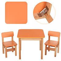 Столик деревянный и 2 стульчика, F092