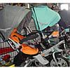 Трехколесный велосипед с фарой и поворотным сиденьем Azimut Crosser T503 EVA, бирюза, фото 2