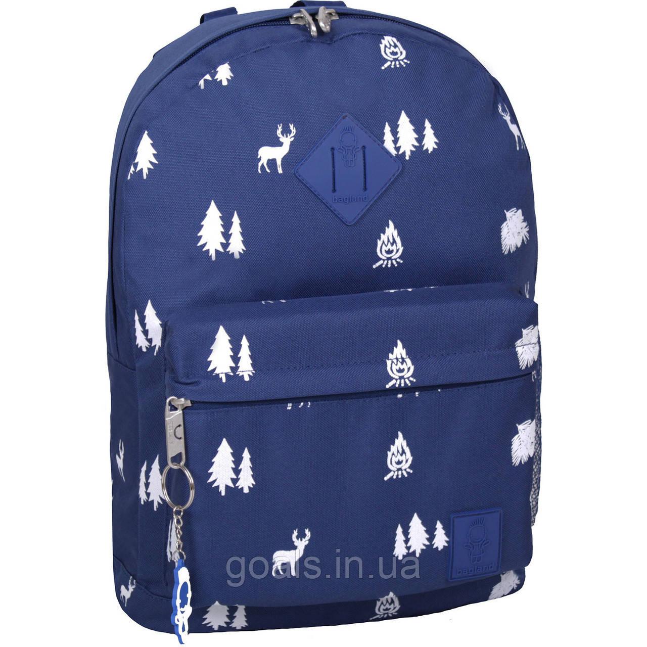 Рюкзак Bagland Молодежный W/R 17 л. 225 синій/олені (00533662)