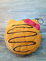 "Антистресс игрушка - брелок Сквиши ""Пончик-Котик"" (Squishy), рыжий"