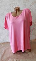 Женская  розовая футболка для дома и сна C&A размер L