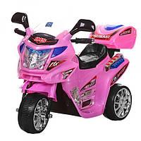 Детский электромобиль Мотоцикл, Bambi M 0638 розовый