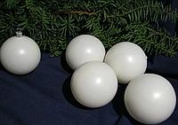 Шар новогодний заготовка на ёлку белый 60 мм пластик. Игрушка на ёлку своими руками. Новорічна іграшка
