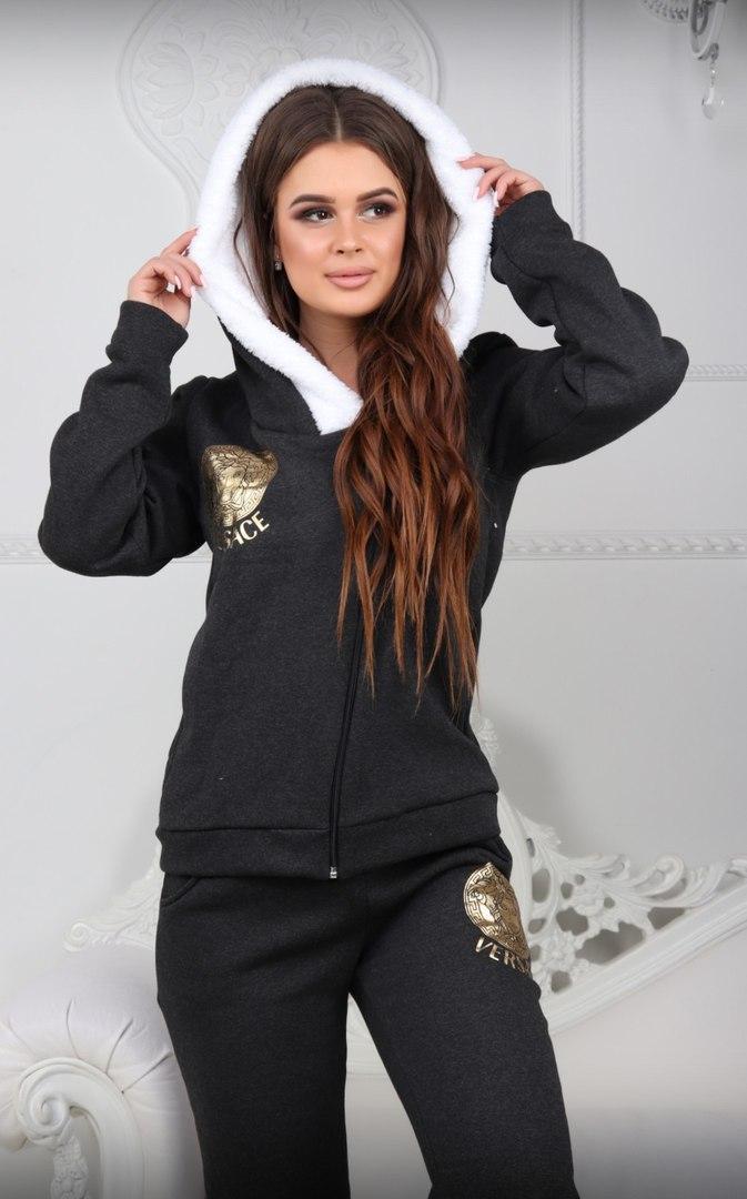 bd636aac Теплый женский спортивный костюм Versace Squint (большой размер) - Интернет-магазин  спортивной одежды