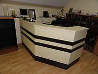 Административная стойка ресепшн в офис. Офисная мебель под заказ в Киеве (R-22)