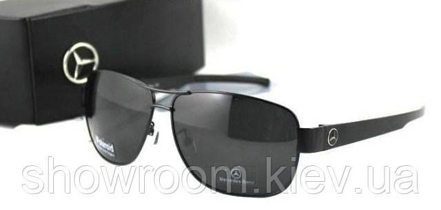 Солнцезащитные очки в стиле Mercedes (618) черная оправа