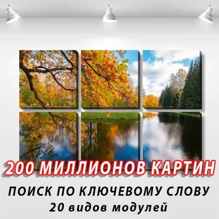 Модульная картина, холст, Лес, 62x95см.  (30x30-6), фото 2