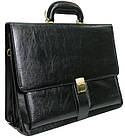 Портфель деловой из искусственной кожи 4U CAVALDI черный B005, фото 2