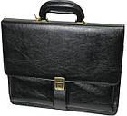 Портфель деловой из искусственной кожи 4U CAVALDI черный B005, фото 3