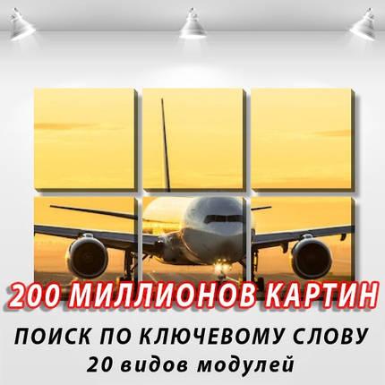 Модульная картина, холст, Самолеты, 62x95см.  (30x30-6), фото 2