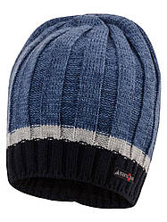 Детская зимняя шапка на мальчика на флисе, Объём 50-54