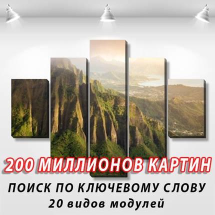 Модульная картина, холст, Гавайи, 90x110см.  (30x20-2/55x20-2/90x20), фото 2