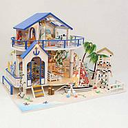 Мальчику, взрослому DIY miniature House интерьерный 3D-конструктор LEGEND OF SEA + LED подсветка, фото 2