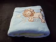 Велюровое теплое детское одеяло на силиконе.