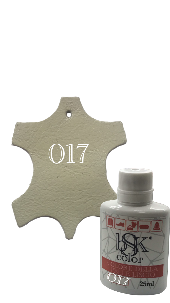 Краска для гладкой кожи грязно-бежевая  Bsk color №017 25 мл