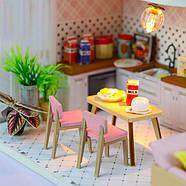Подарок девочке DIY miniature House интерьерный 3D-конструктор РУМБОКС + LED подсветка 28*19*16см, фото 4