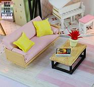 Подарок девочке DIY miniature House интерьерный 3D-конструктор РУМБОКС + LED подсветка 28*19*16см, фото 3