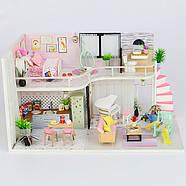 Подарок девочке DIY miniature House интерьерный 3D-конструктор РУМБОКС + LED подсветка 28*19*16см, фото 2