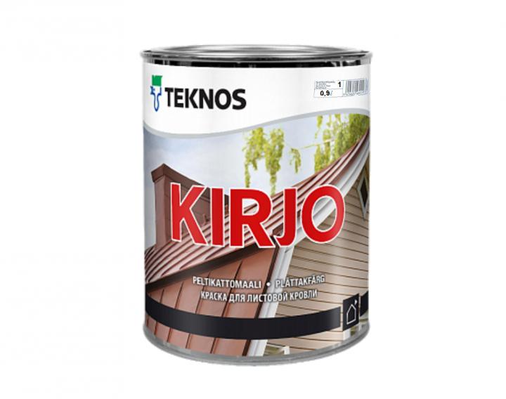"""Емаль алкідна TEKNOS KIRJO для дахів і листового металу """"біла"""" (тонується) 0,9 л"""