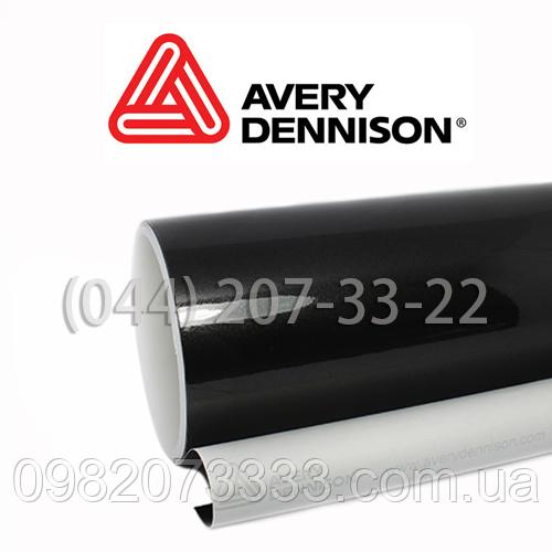 Виниловая защитная кузовная автомобильная плёнка Черный Перламутр Avery Gloss Metallic Black (1,52)