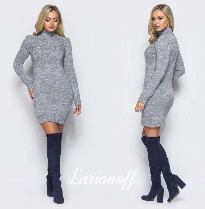 Платье вязаное норма недорого интернет-магазин сайт женской одежды модна  каста р. 42-46 135d2a92c10
