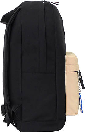 Рюкзак Bagland Молодежный W/R 17 л. чорн/бежевий (00533662), фото 2
