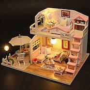 Подарок девочке DIY miniature House интерьерный 3D-конструктор РУМБОКС Pink Loft + LED подсветка, фото 4