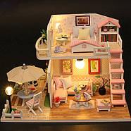 Подарок девочке DIY miniature House интерьерный 3D-конструктор РУМБОКС Pink Loft + LED подсветка, фото 6