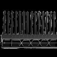 Гребень свеса с вентиляционной вставкой WA-BIS 80 х 1000 мм Черный (0933)
