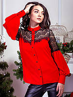 Блузка женская с кружевом (2564)