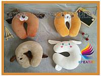 Подушки игрушки различные под шею с вашим логотипом под заказ (от 50 шт.), фото 1