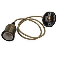 Патрон-светильник подвесной Е27 в металлическом корпусе бронза ST 796