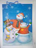 Пакет сумочка новогодний подарочный бумажный большой 45*32,5 см, фото 4