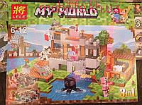 """Конструктор Lele 33191 My World """"Береговая цитадель 3 в 1"""" (аналог Lego Minecraft) 517 деталей"""