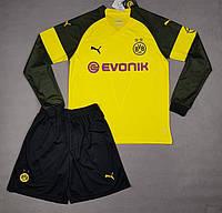 Футбольная форма Боруссия Дортмунд основная с длинным рукавомсезон 2018-2019 (желтая), фото 1