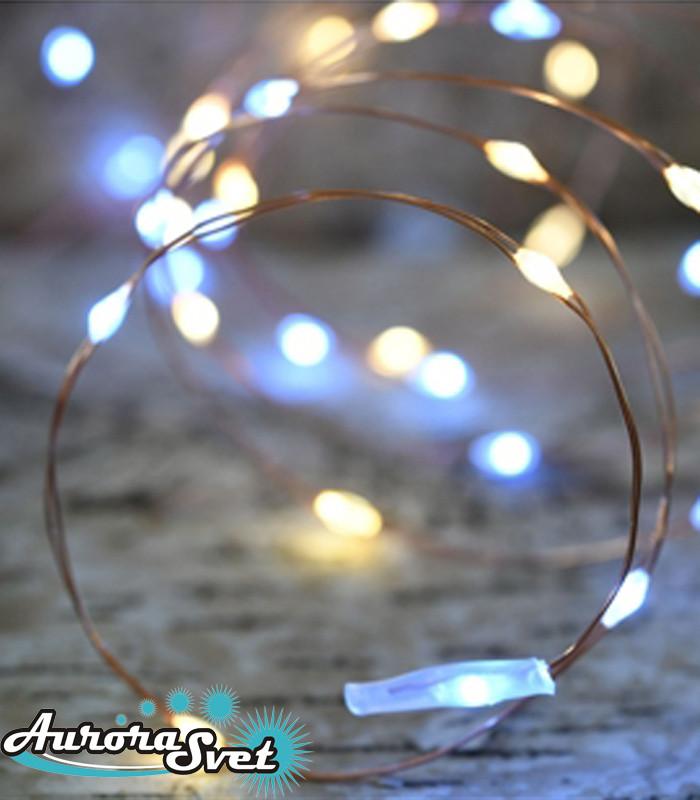 LED гирлянда 7,5 м на 150 светодиодов. Светодиодная гирлянда. Гирлянда LED. Производство Франция.