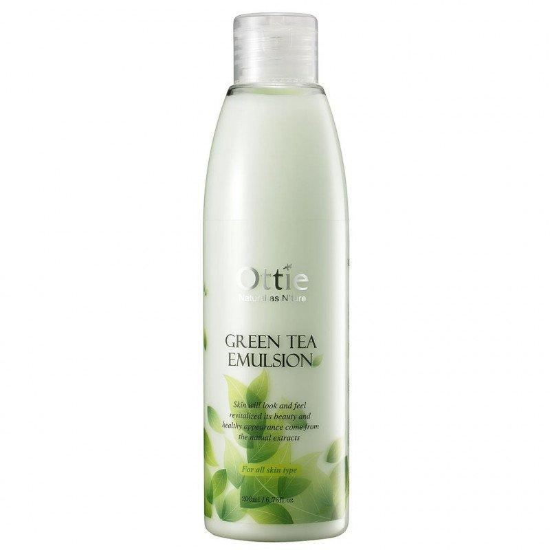 Увлажняющая эмульсия для лица с экстрактом зеленого чая Ottie Green Tea Emulsion 200 ml