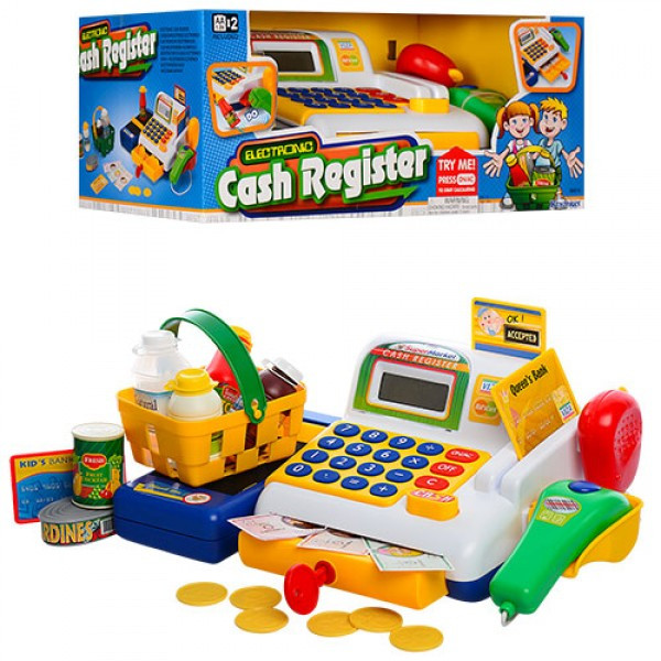 Игровой набор Кассовый аппарат с электронным дисплеем и звуком, Keenway 30213