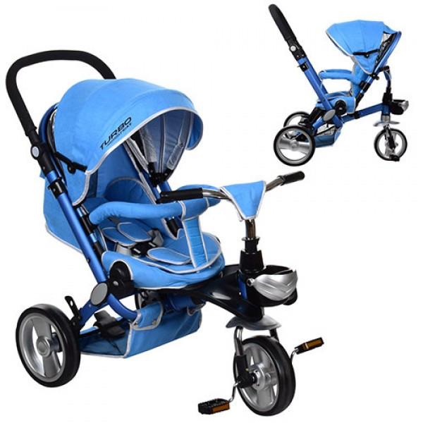 Трехколесный велосипед с регулируемой спинкой на EVA колесах, M AL3645-12 синий