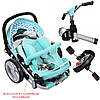 Трехколесный велосипед с регулируемой спинкой на EVA колесах, M AL3645-12 синий, фото 5