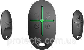 Брелок управления системой безопасности с тревожной кнопкой AJAX SpaceControl Черный