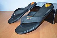 Шлепанцы Nike.вьетнамки кожаные.Мужские вьетнамки Найк.Реплика.