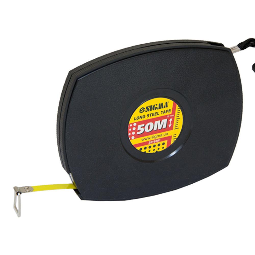 Рулетка измерительная стальная лента Sigma 50 м x 10 мм (3816501)
