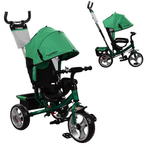 Трехколесный велосипед колясочного типа на EVA колесах (диаметр 12/10), Turbotrike M 3113-N4 зеленый